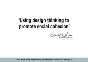 Promoting Social Cohesion