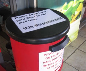 Message on a PostBox in Cape Town