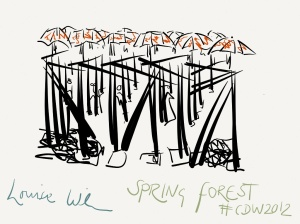 Spring Forest using the bamboo stylus