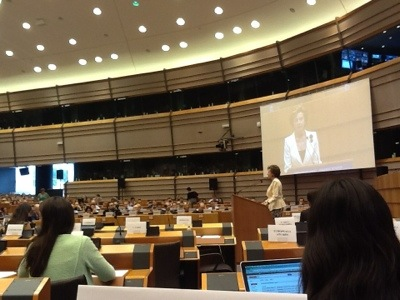 Neelie Kroes speaking at the, Plenary session, European Parliament