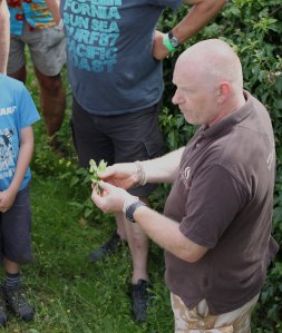 Kevan Palmer on the foraging walk