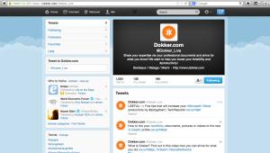 Dokker.com twitter page
