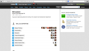 LinkedIn expertise section