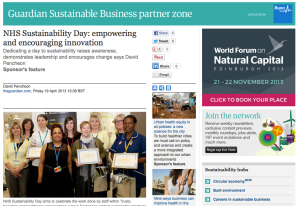 The Guardian, NHS Sustainability Day